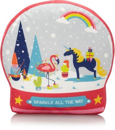 Christmas Snow Globe Cushion