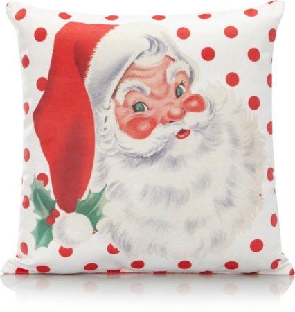 Christmas Santa Polka Dot Small Cushion