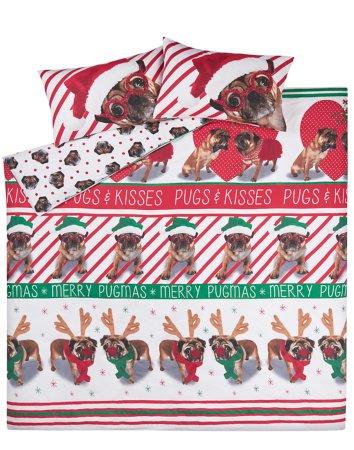 Christmas Pugs & Kisses Bedding Range