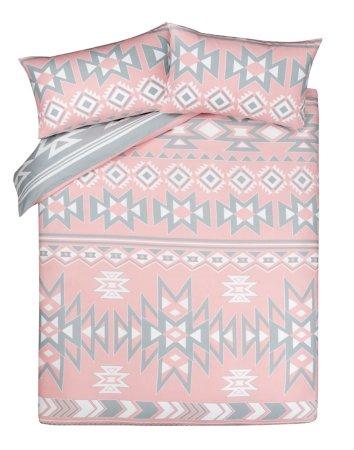Brushed Cotton Reversible Aztec Duvet Cover