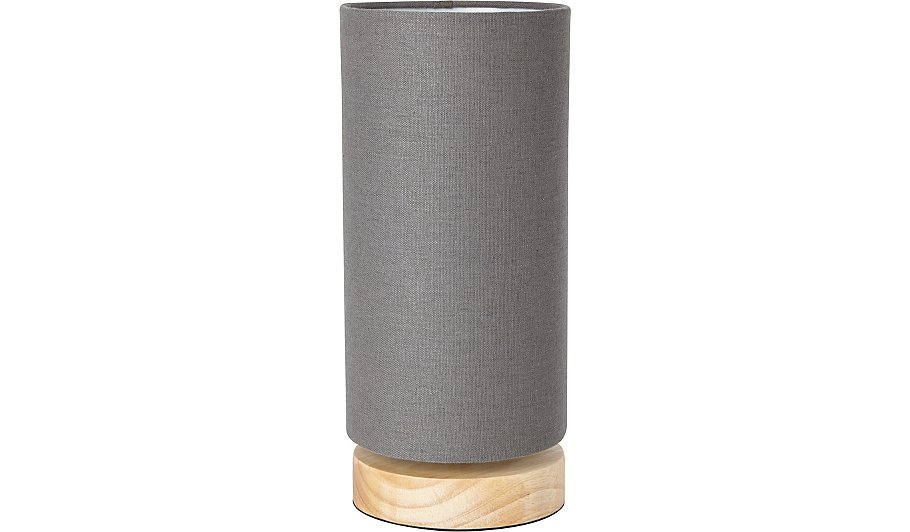Cylinder table lamp grey home garden george aloadofball Image collections