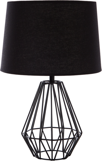 Wire table lamp black home garden george