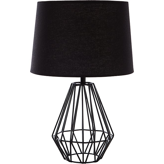 Wire Table Lamp - Black