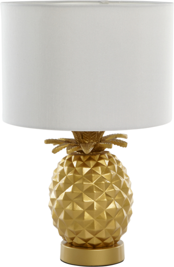 Lovely Pineapple Table Lamp - Gold | Home & Garden | George GS52