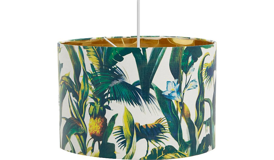 Palm tree print ceiling shade home garden george palm tree print ceiling shade aloadofball Choice Image