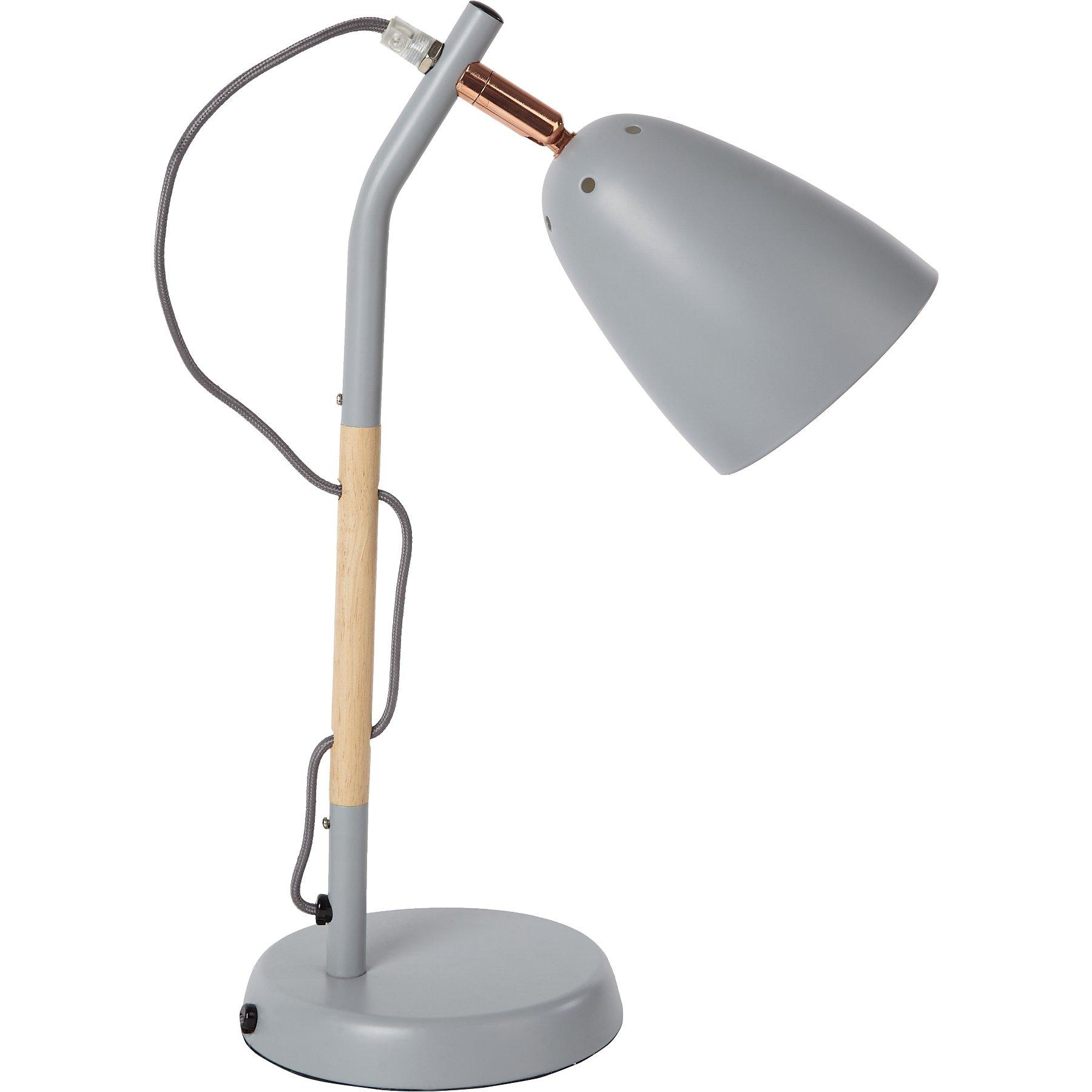 Grey Desk Lamp Home George At Asda