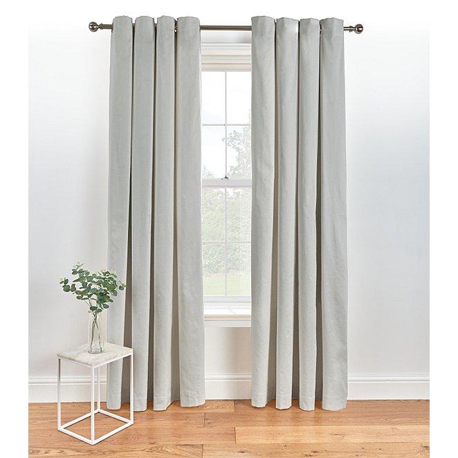 Grey Star Blackout Eyelet Curtains Oh Decor Curtain