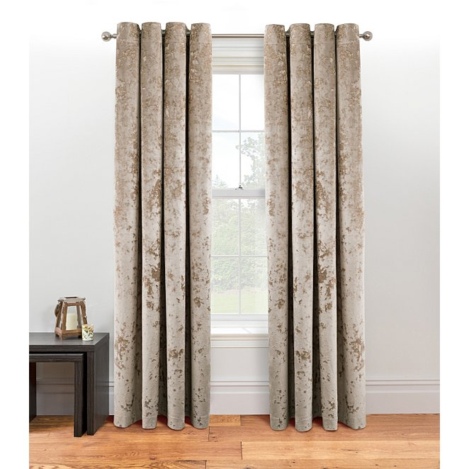 Champagne Embossed Crushed Velvet, Can You Wash Crushed Velvet Curtains
