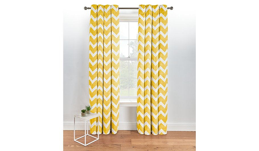 Chevron Eyelet Curtains