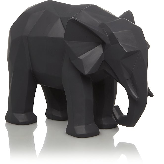 df54451cf463 Geometric Elephant Ornament - Grey