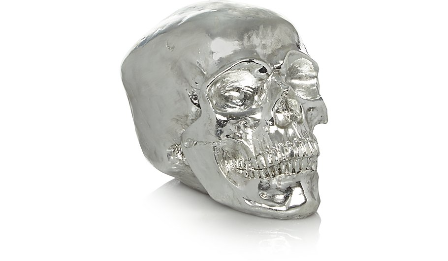 Skull Head Ornament - Silver | Home & Garden | George