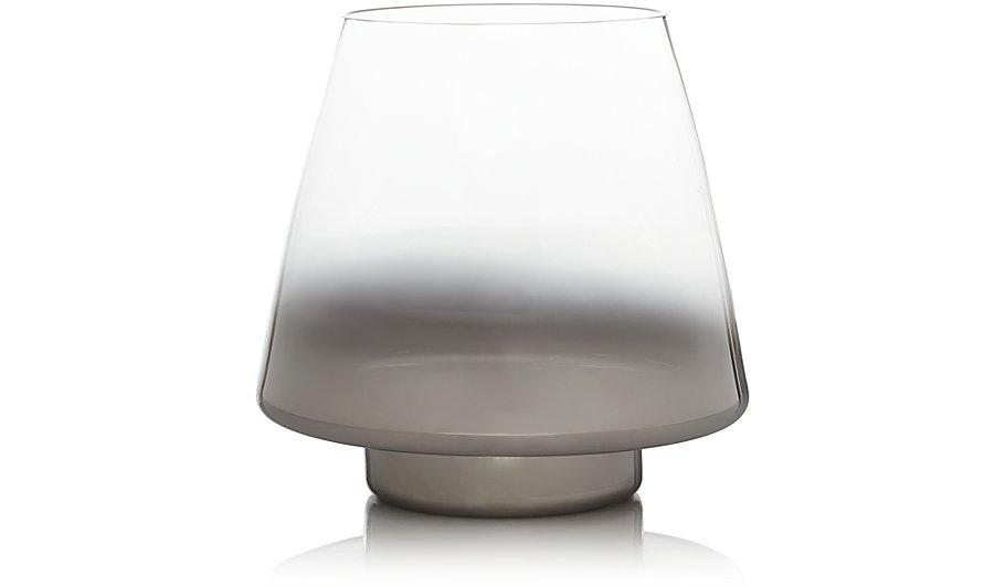 Ombré Hurricane Vase Silver