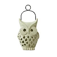 cream owl shaped solar light home garden george. Black Bedroom Furniture Sets. Home Design Ideas