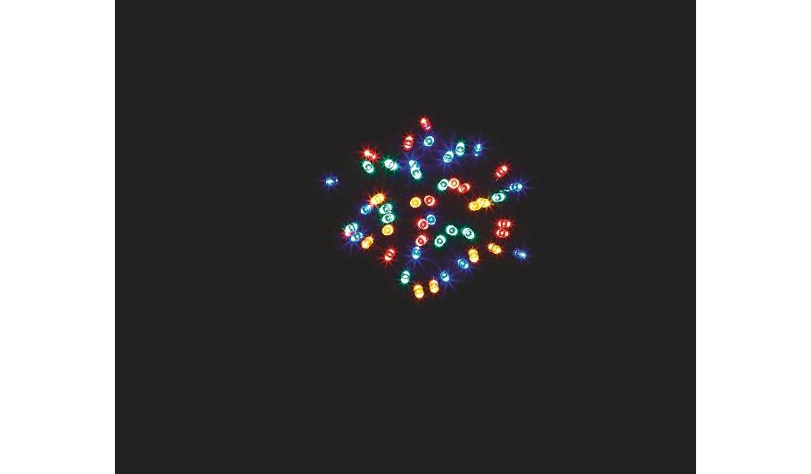 Multi Coloured Solar Powered String Lights 50 Leds