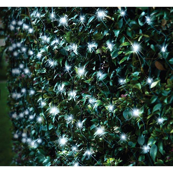 White Solar Ed Net String Lights 105 Leds