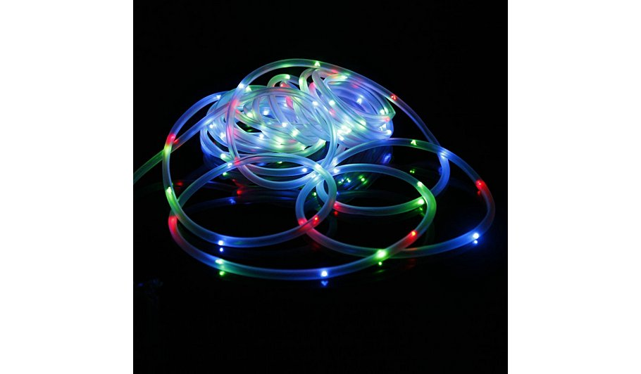 Multi coloured solar powered rope light home garden george multi coloured solar powered rope light aloadofball Image collections