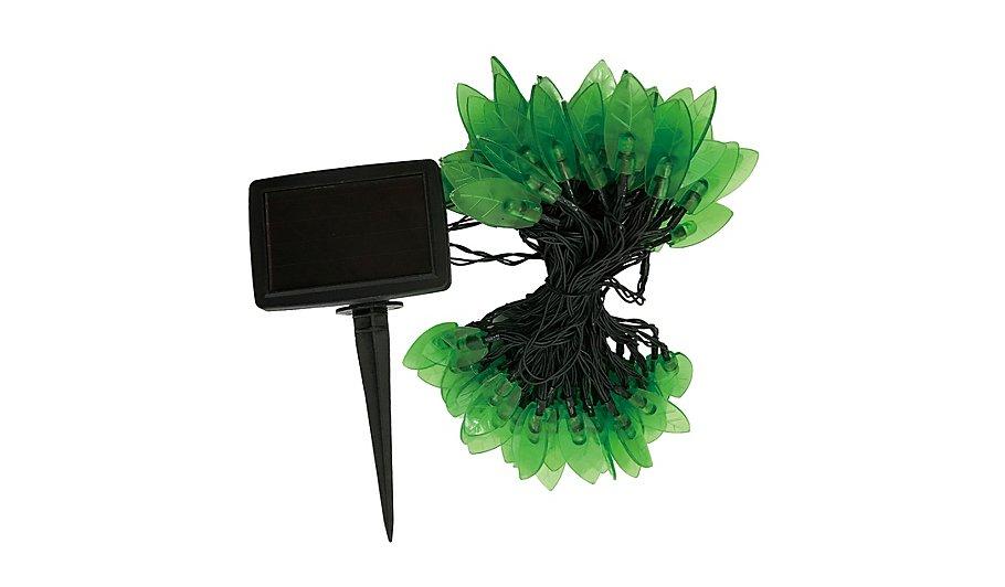 Green Solar Powered Leaf Lights 100 Leds