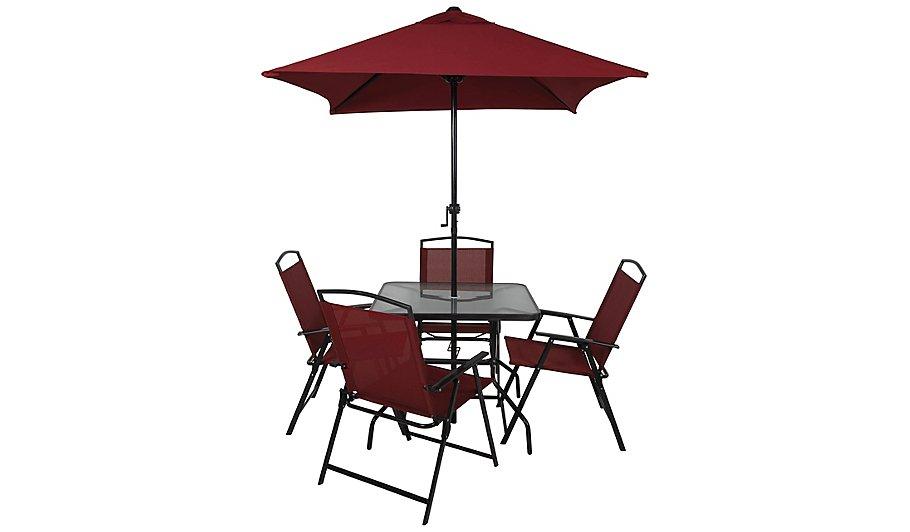 - Miami 6 Piece Patio Set - Red Home & Garden George