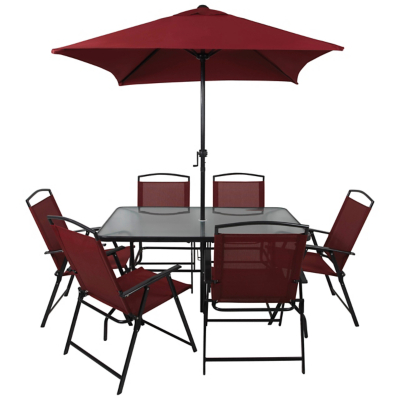 Miami 8 Piece Patio Set   Red | Home U0026 Garden | George