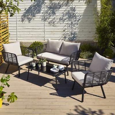 Novaro 4 Piece Garden Sofa Set  sc 1 st  George & Garden Patio u0026 Conservatory Furniture | Outdoor u0026 Garden | George ...