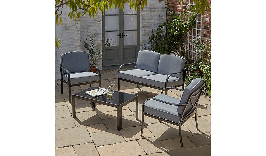 Charcoal Sofa Set Colebrook Sofa Set In Charcoal For