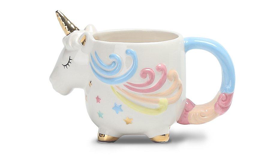 unicorn shaped mug home garden george. Black Bedroom Furniture Sets. Home Design Ideas