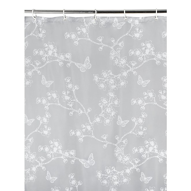 Butterfly Print Shower Curtain
