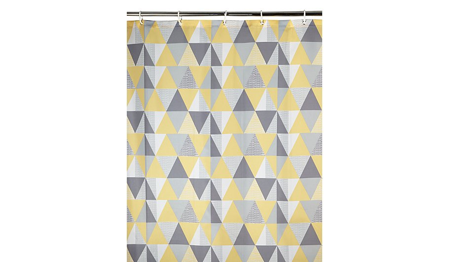 grey and aqua shower curtain. Geometric Print Shower Curtain  Home Garden George