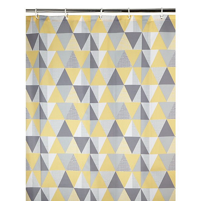 Geometric Print Shower Curtain Reset
