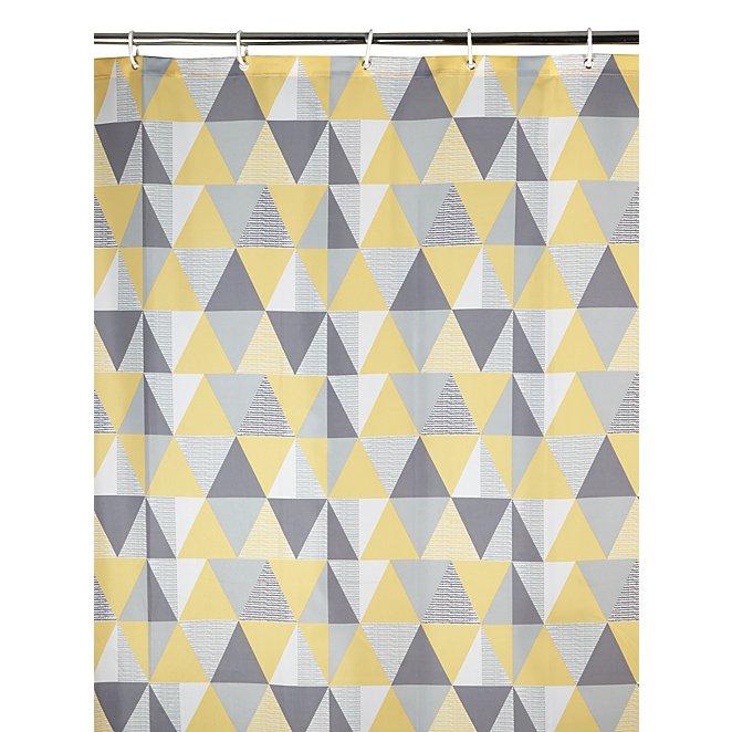 Geometric Print Shower Curtain