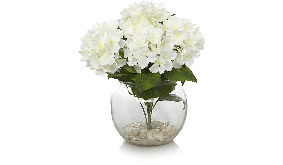 Hydrangea arrangement with vase home garden george