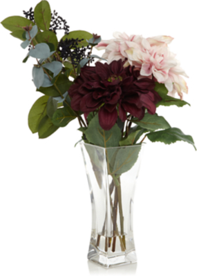 225 & Flower Arrangement in Glass Vase