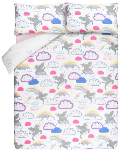 Unicorns And Rainbows Reversible Duvet Cover Home