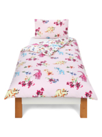 Dino Floral Reversible Duvet   Double by Asda