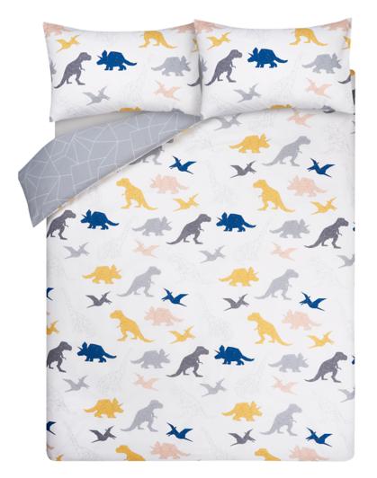 Geometric Dinosaur Print Reversible Duvet Cover Home