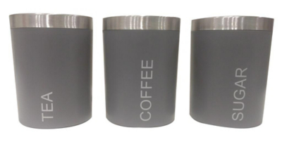 Grey Canisters Set of 3