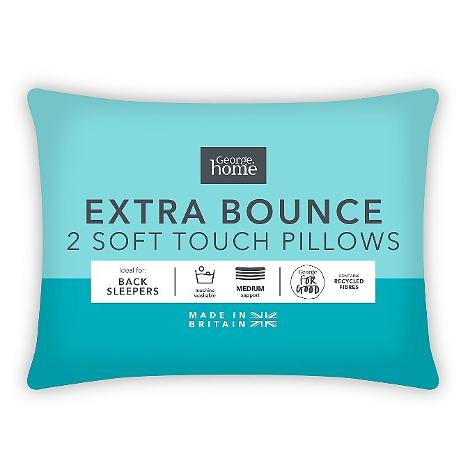 Soft Touch Extra Support Pillow Pair
