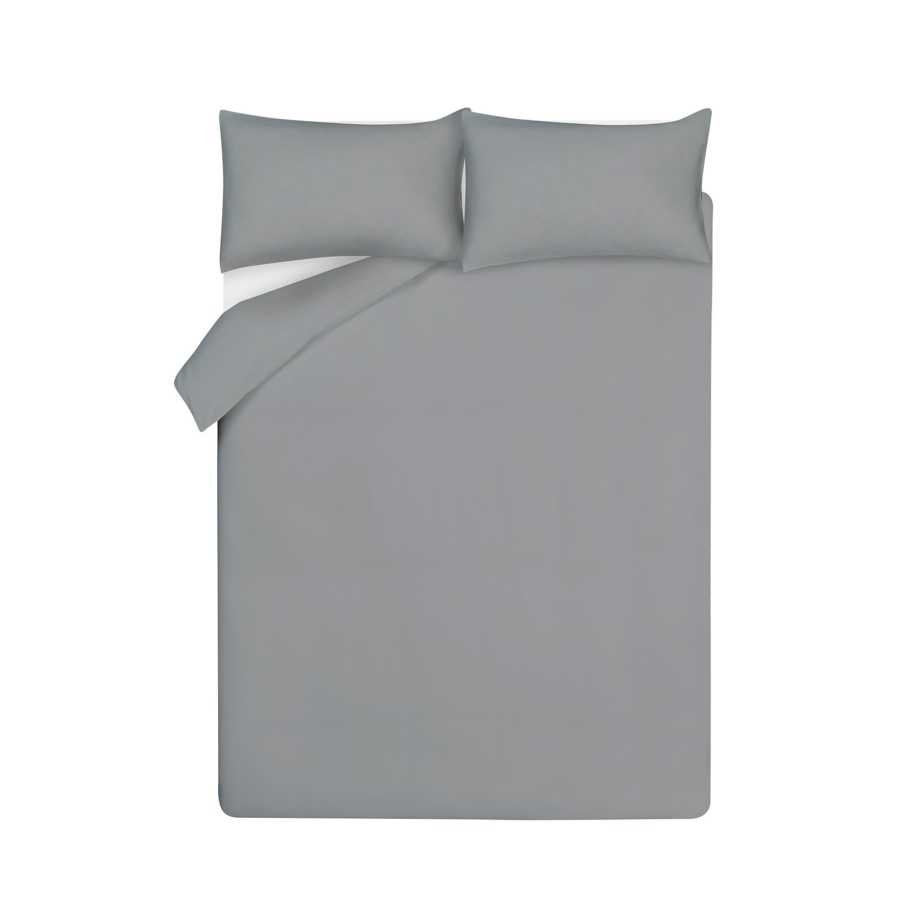 Grey 100 Cotton Waffle Duvet Cover Home George