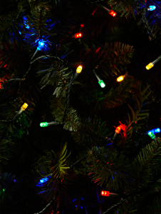 Multi Coloured Led String Lights On Green Cable Christmas Shop