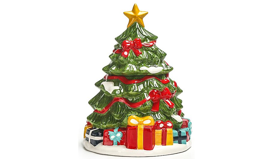 christmas tree shaped cookie jar