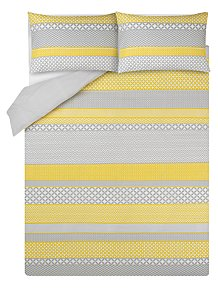 0291d1ba4324 Geometric Print Easy Care Duvet Set
