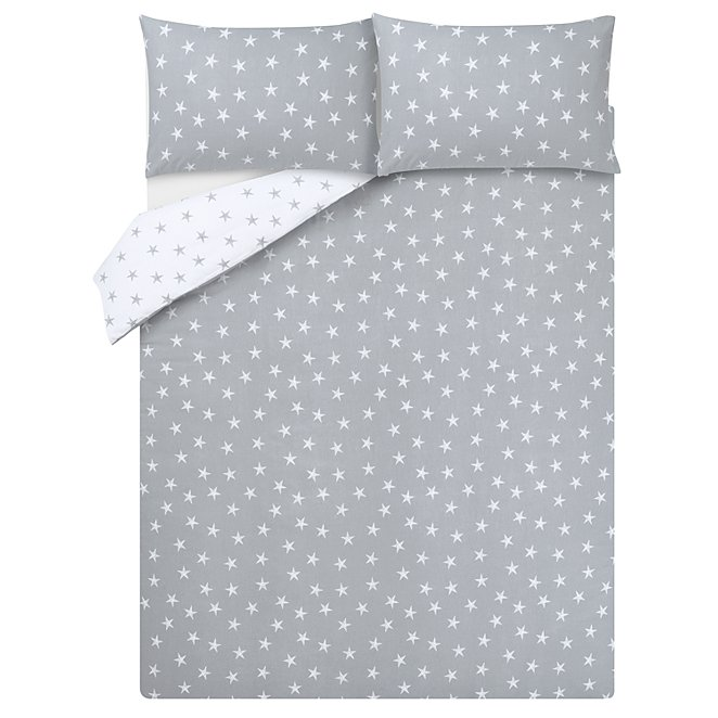 a65965a1b524 Star Print Soft & Cosy Brushed Cotton Reversible Duvet Set   Home   George