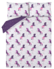 Purple Unicorn Print Easy Care Duvet Set main view
