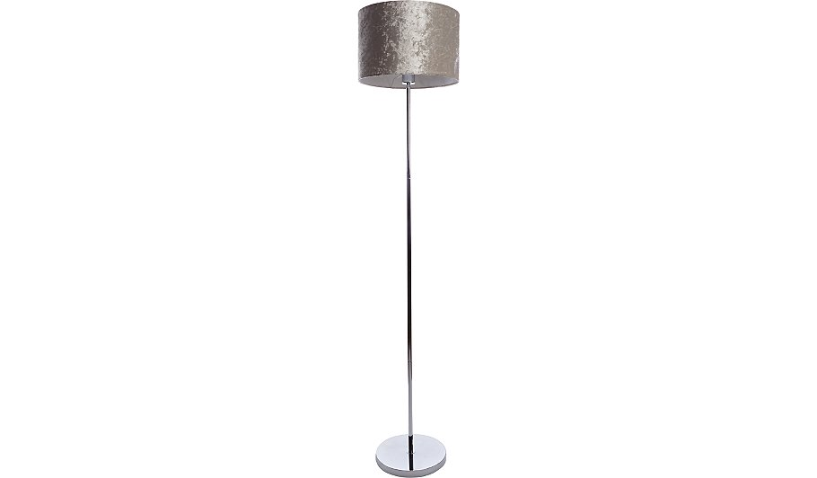 Grey crushed velvet lamp shade home garden george aloadofball Choice Image