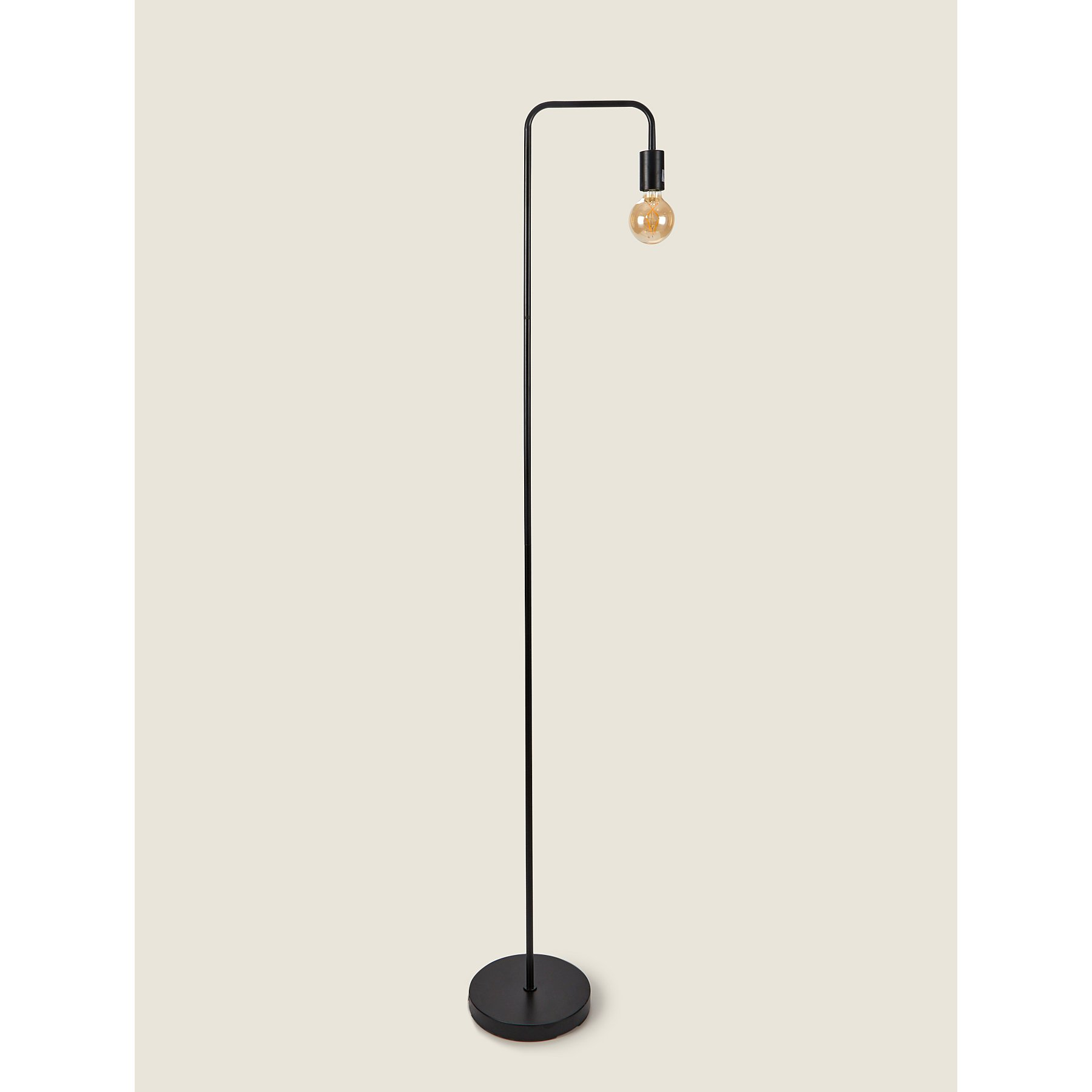 super popular 7b1d8 8d970 Black Edison Bulb Floor Lamp