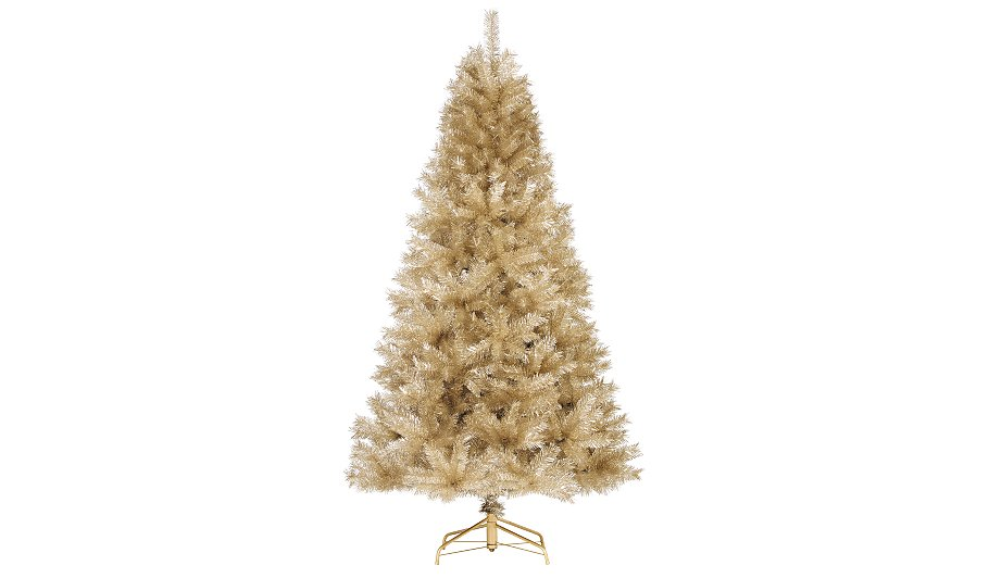 7ft champagne tinsel christmas tree