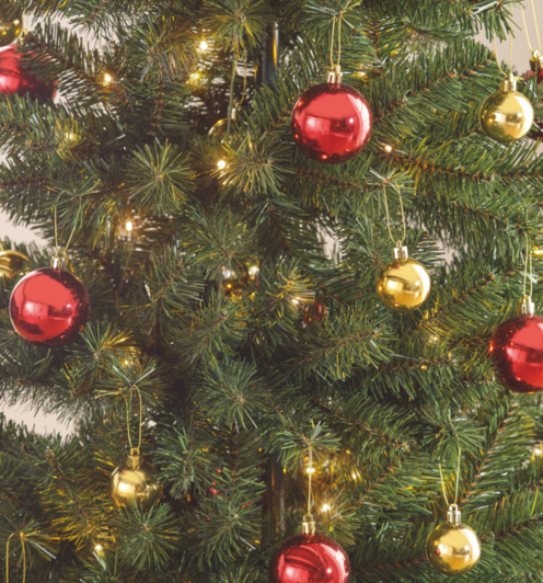5ft Pop Up Pre Lit Led Christmas Tree Red And Gold Baubles