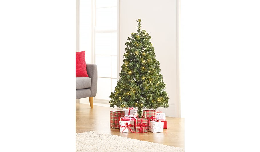4ft Pre-Lit Christmas Tree