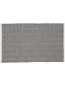 Black and White Chevron Bath Mat 31d8e6516