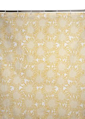 Yellow Sunflower Print Shower Curtain